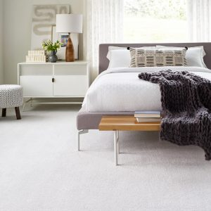 White Carpet in Bedroom | Christian Brothers Flooring & Interiors.
