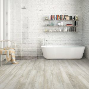 Bathroom Hardwood FLooring | Christian Brothers Flooring & Interiors.