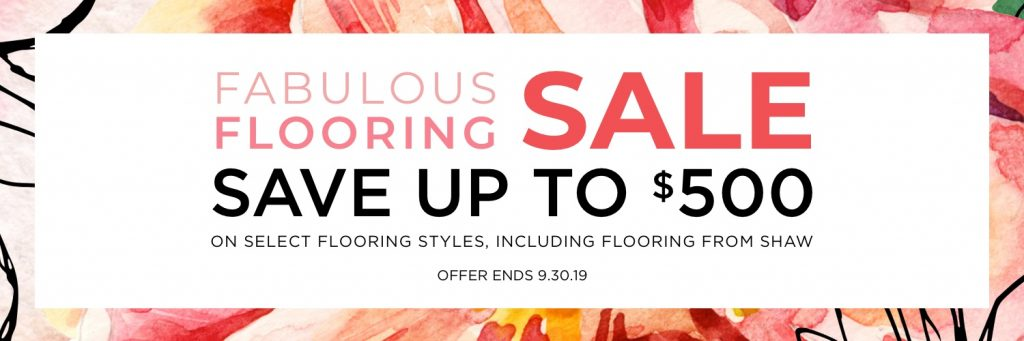 Fabulous flooring sale | Christian Brothers Flooring & Interiors.