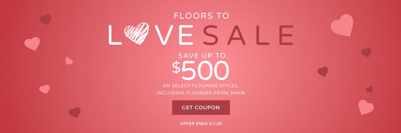 Floors to love sale banner