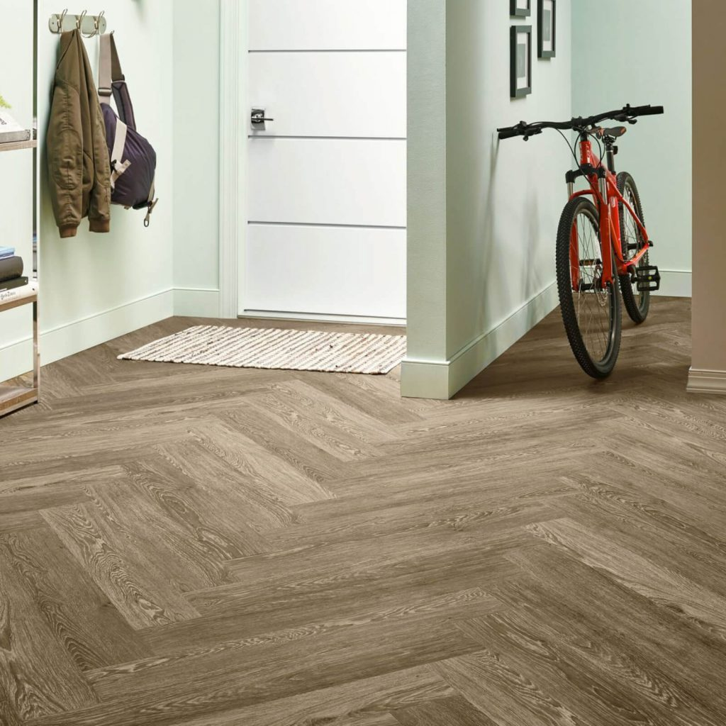 Bicycle on flooring