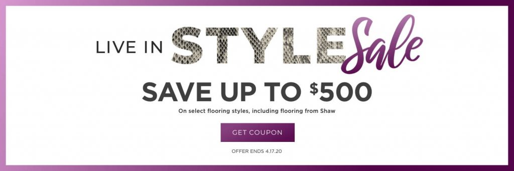 Live in Style Sale | Christian Brothers Flooring & Interiors