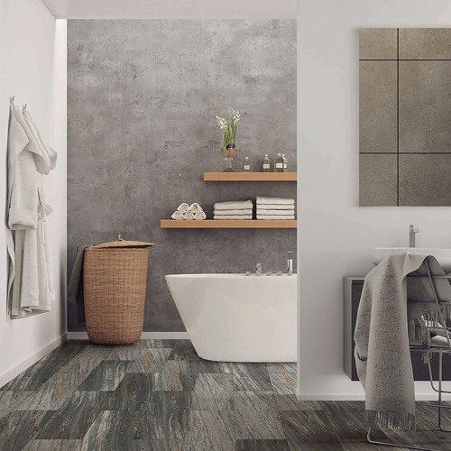 100% waterproof luxury vinyl flooring in bathroom